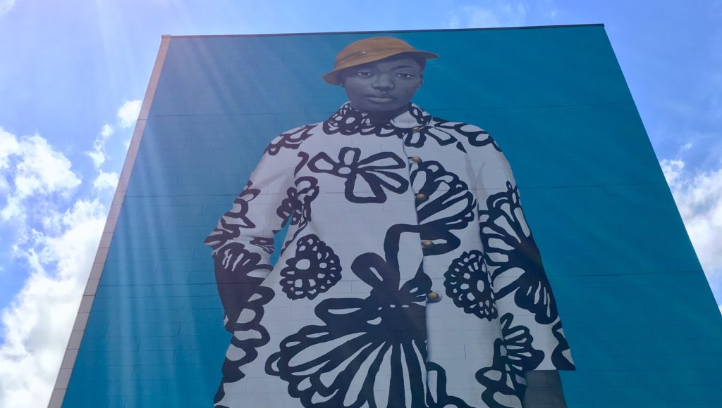 Artist Amy Sherald unveils mural of Najee Spencer-Young