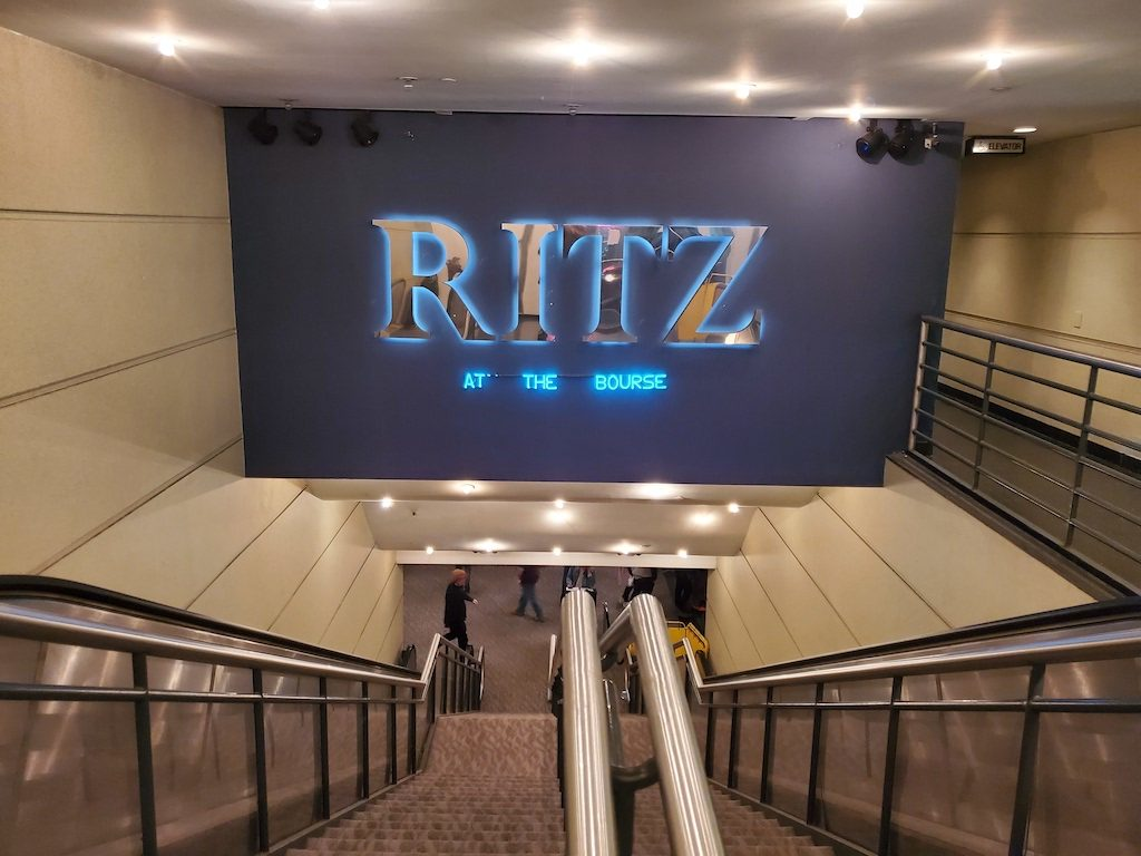 The last screening at The Ritz at the Bourse