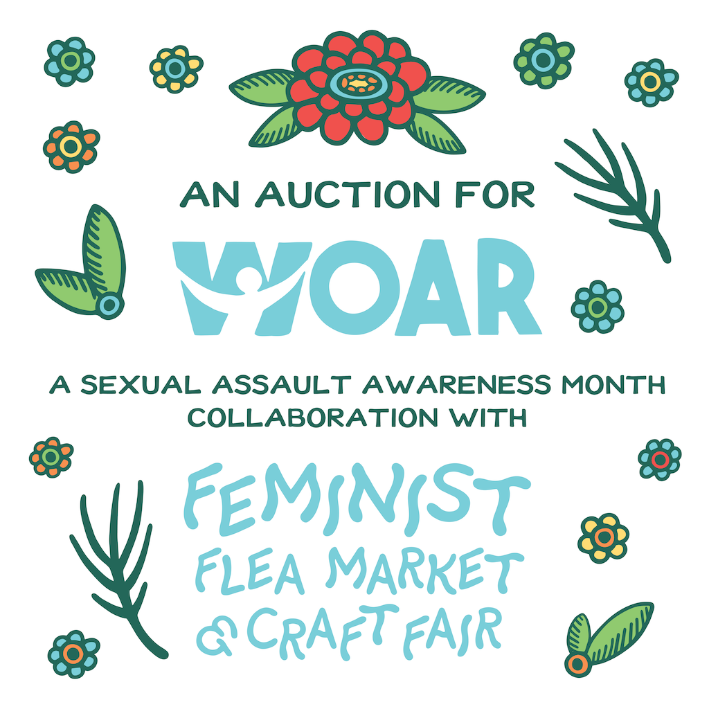 Philly's House Cat and the Feminist Flea Market and Craft Fair benefit WOAR via Instagram auction