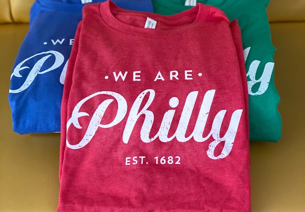 Purchases of 'We Are Philly' tees promote civic pride while providing fresh food for families in need