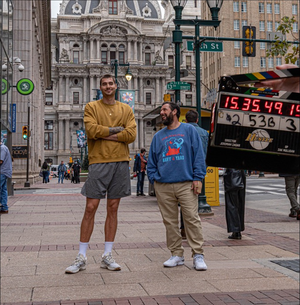 "Adam Sandler – Filming Netflix's ""Hustle"" in Philly"